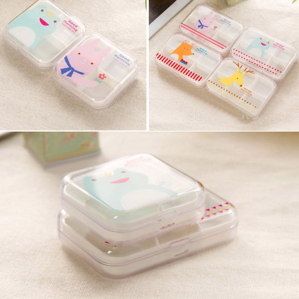 Portable Airtight Pill Organizer for Pocket or Purse, Transparent and Two Size Available 7
