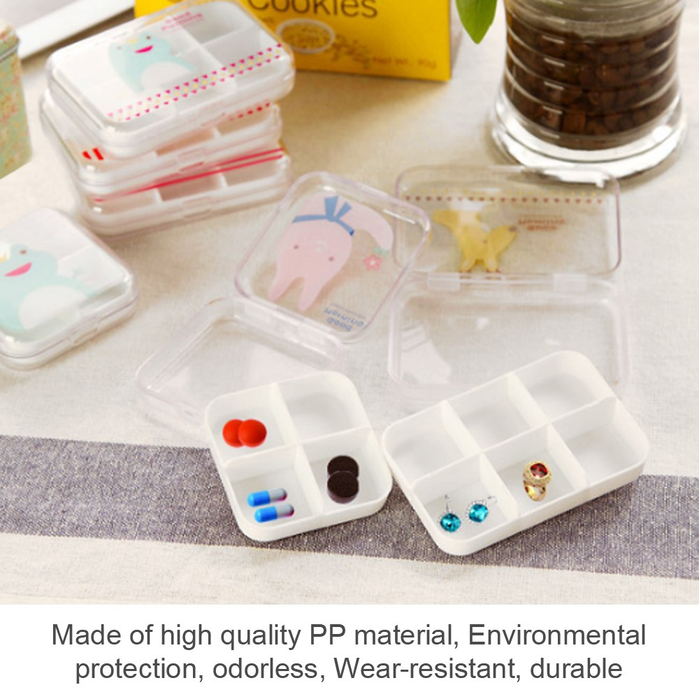 Portable Airtight Pill Organizer for Pocket or Purse, Transparent and Two Size Available 5