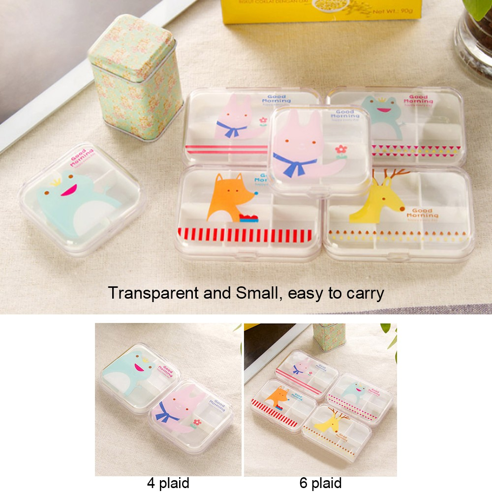 Portable Airtight Pill Organizer for Pocket or Purse, Transparent and Two Size Available 4