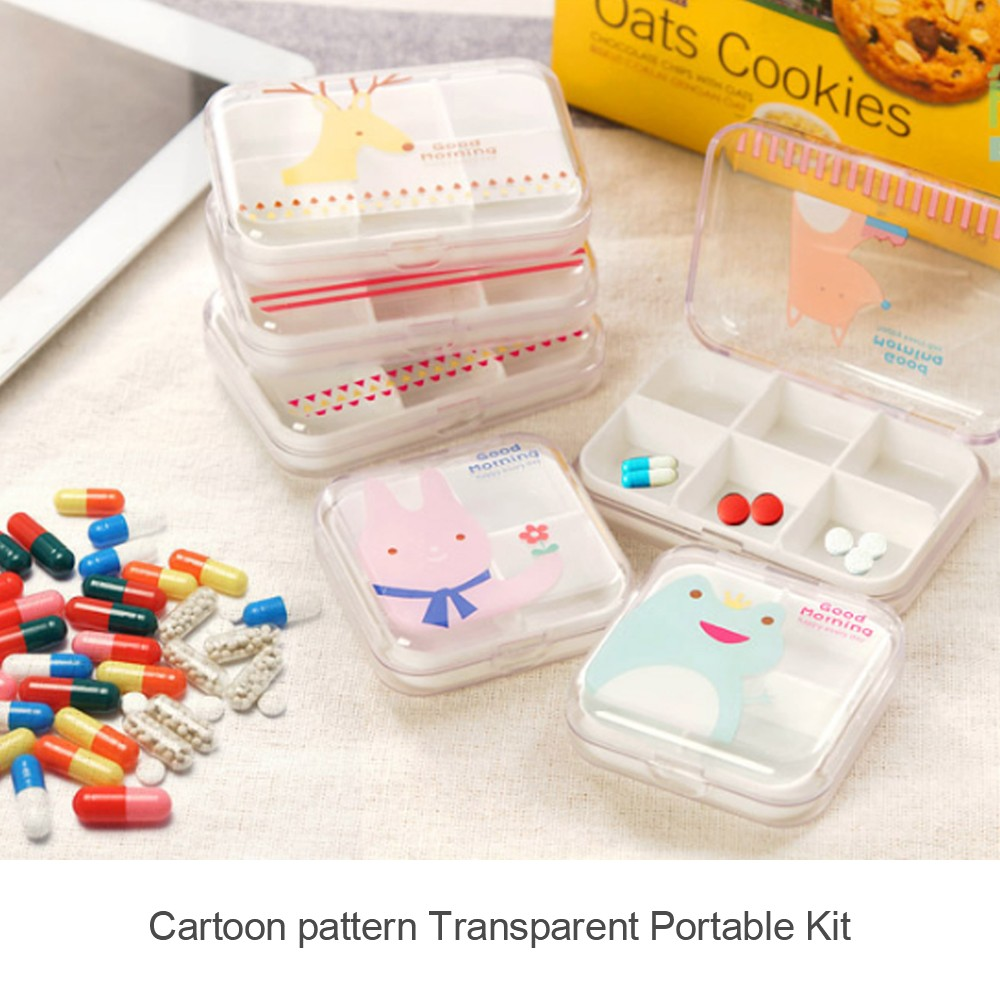Portable Airtight Pill Organizer for Pocket or Purse, Transparent and Two Size Available 3
