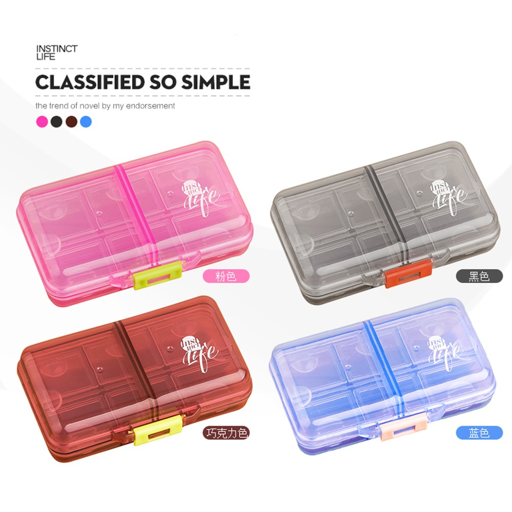 Weekly Pill Organizer with 8 Compartments