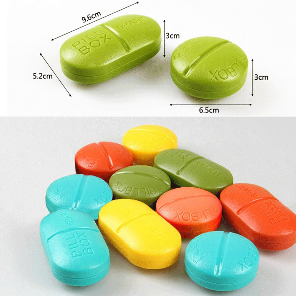 Cute Portable 6 Compartments Travel Medical Pill Box for Pocket or Purse 6