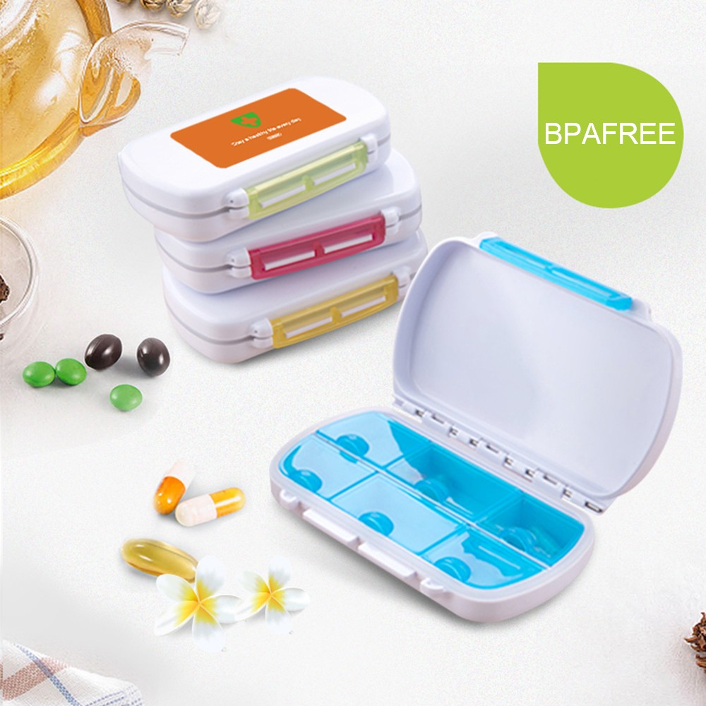 Waterproof Pill Organizer for Weekly and Travel Use, Bonus 1 Medicine Tablet Cutter 9