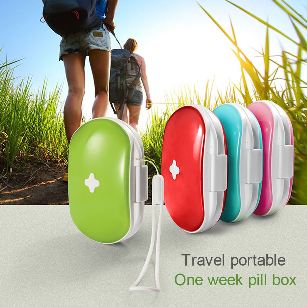 Easy Carry Divided Pill Case with Snap Lid, Tight Lock 6 Compartment Pill Organizer Box for Weekly Use 11