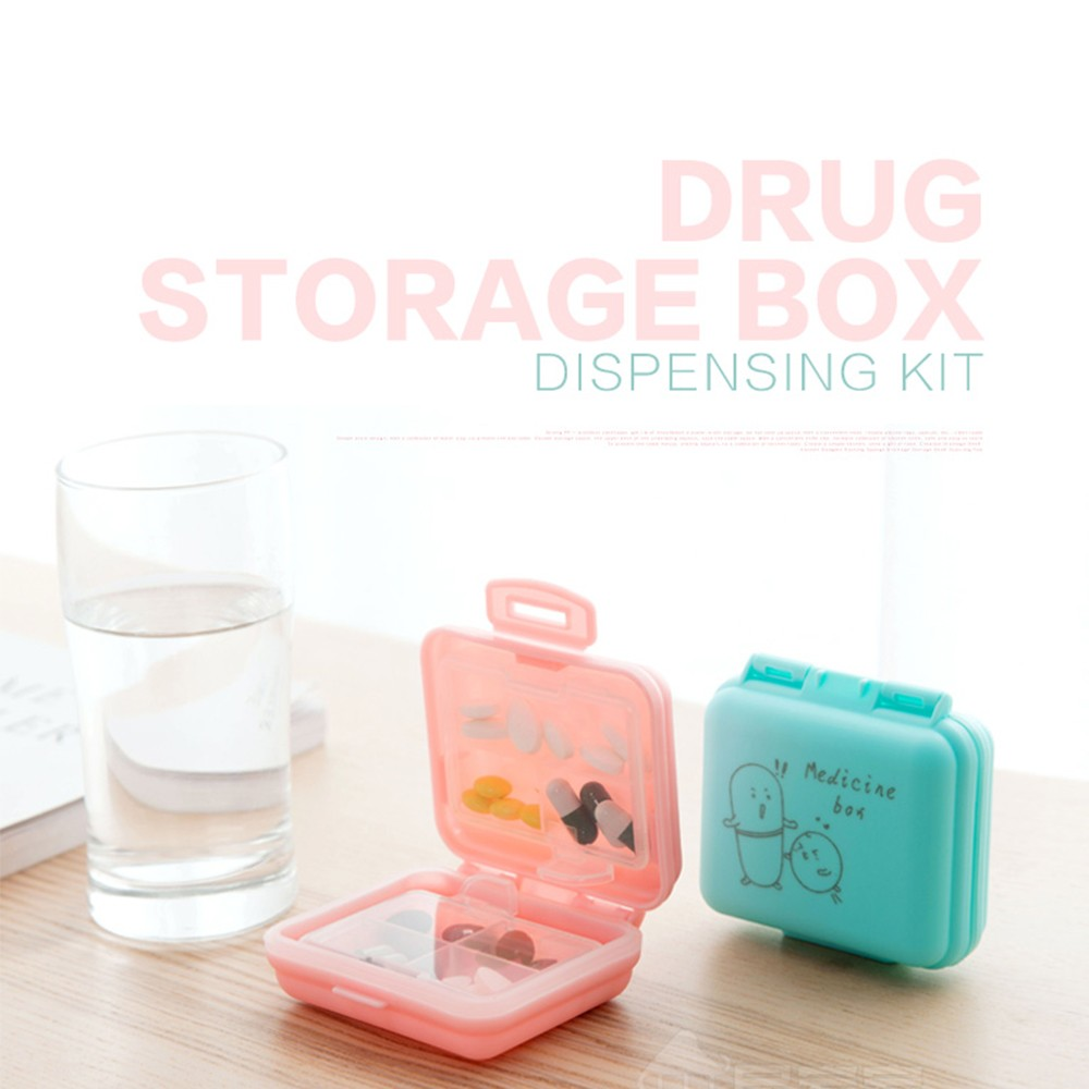 Outdoor Double Layer Pill Box With 7 Slots, Waterproof Lovely Pill Organizer For travel Or Weekly Use 3