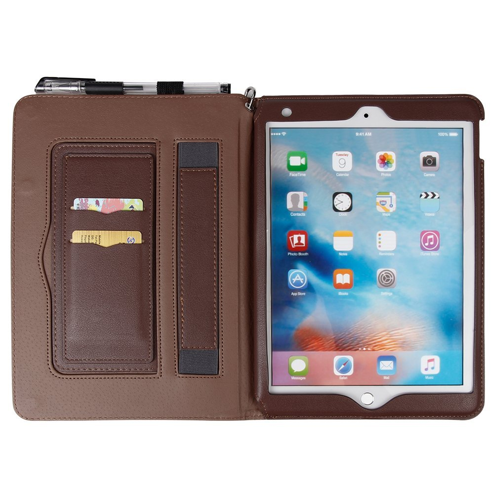 IPad Pro 10.5 Premium Leather Case With kickstand and card slots, Multi Function Flip Cover with Magnetic Closure for Apple iPad Pro 10.5 Inch 12