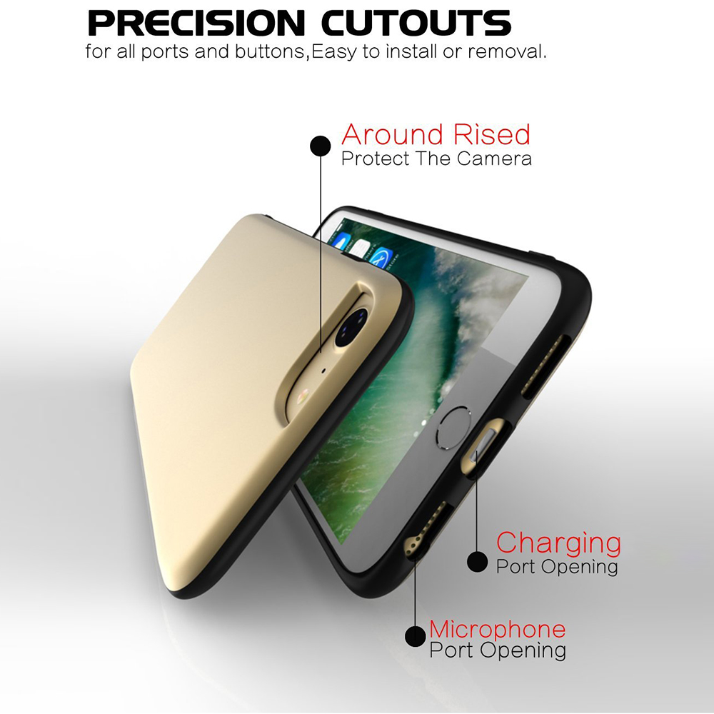 IPhone 7/ IPhone 8 Shockproof Drop Protection Cover Case, Rubber Slim Heavy Duty Case for IPhone 6/6S 6