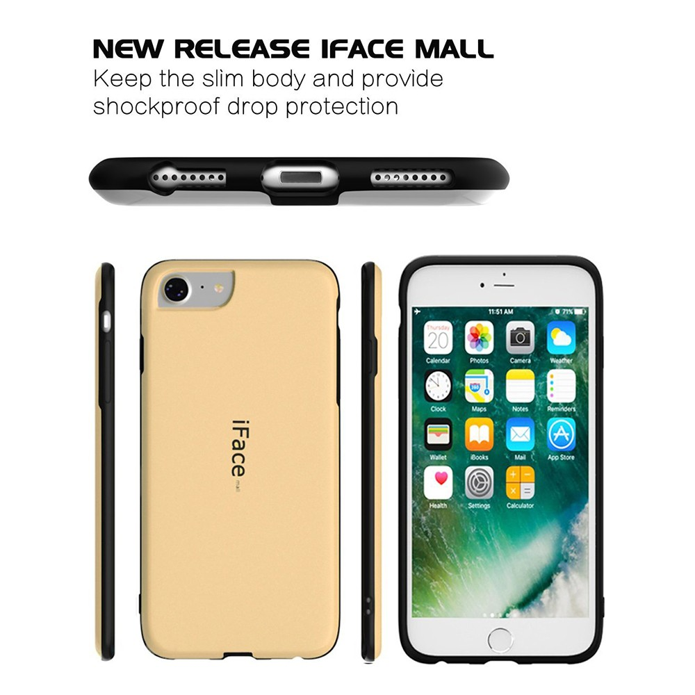 IPhone 7/ IPhone 8 Shockproof Drop Protection Cover Case, Rubber Slim Heavy Duty Case for IPhone 6/6S 8