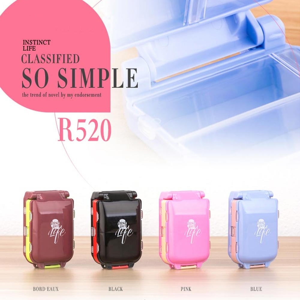 Portable Travel Pill Box for Purse and Pocket, Foldable 3 Layers Pill Organizer with 8 Compartments for Weekly use 11