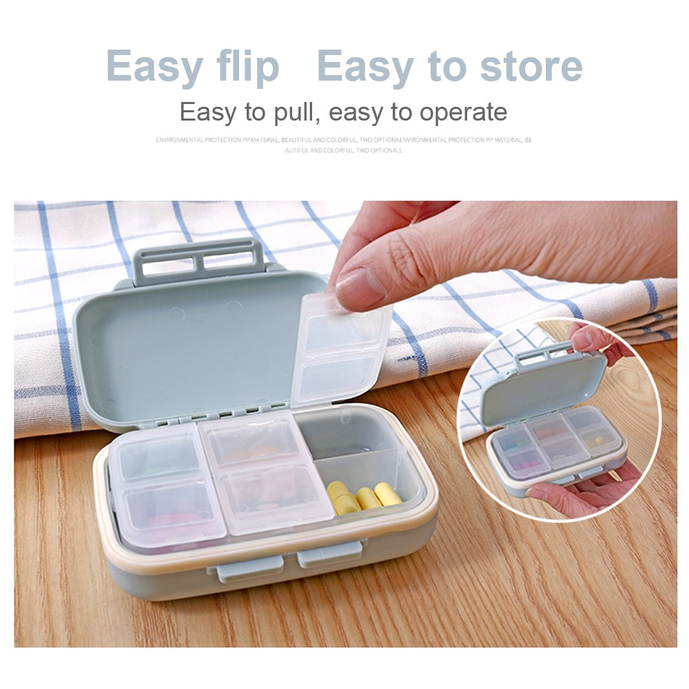 Waterproof Weekly Pill Box With 6 Removable Compartments, Ideal for Medication, Vitamin, Supplement 4