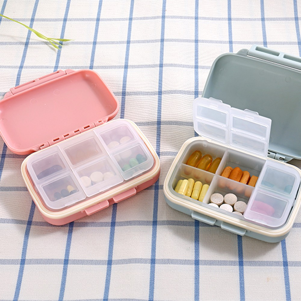 Waterproof Weekly Pill Box With 6 Removable Compartments, Ideal for Medication, Vitamin, Supplement 9
