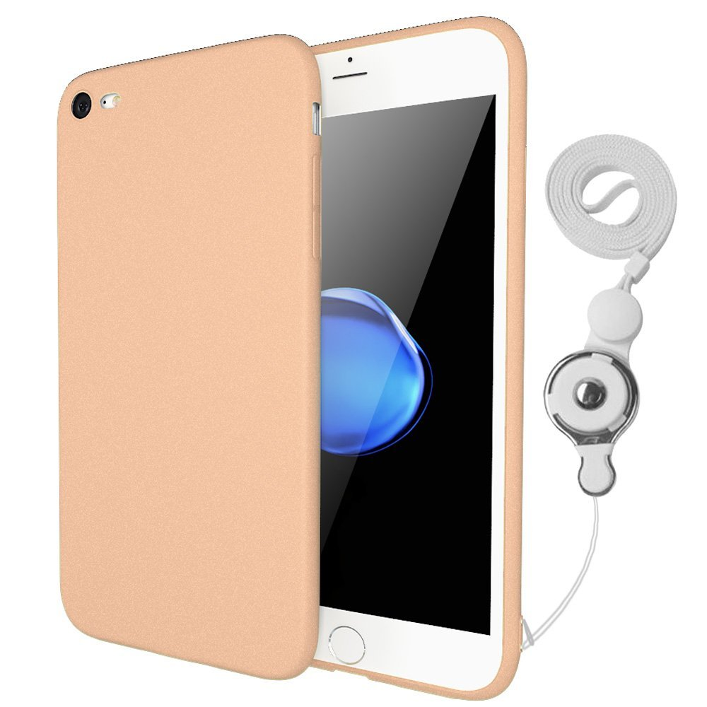 Ultra Slim Soft Plastic iPhone 7 Cover Case, iPhone 7 Case with Finger Ring Holder Lanyard 7