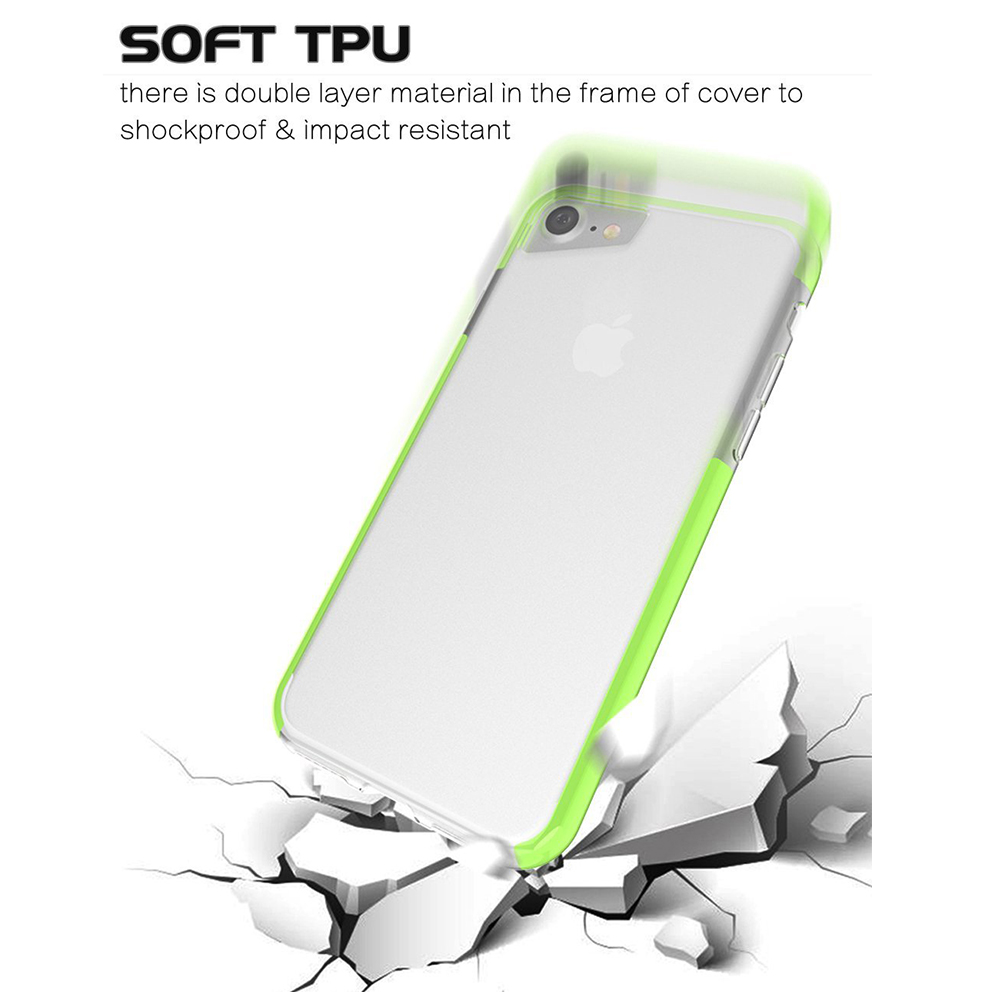 Shockproof IPhone 7 Clear Case, Soft TPU Cover Case with Lanyard Hole for iPhone 6 /6S & iPhone 7 4.7 Inch - Grass Green 4