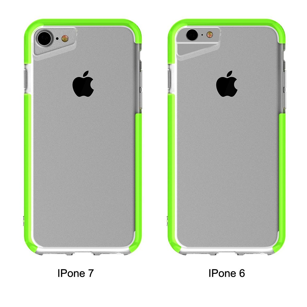 Shockproof IPhone 7 Clear Case, Soft TPU Cover Case with Lanyard Hole for iPhone 6 /6S & iPhone 7 4.7 Inch - Grass Green 8