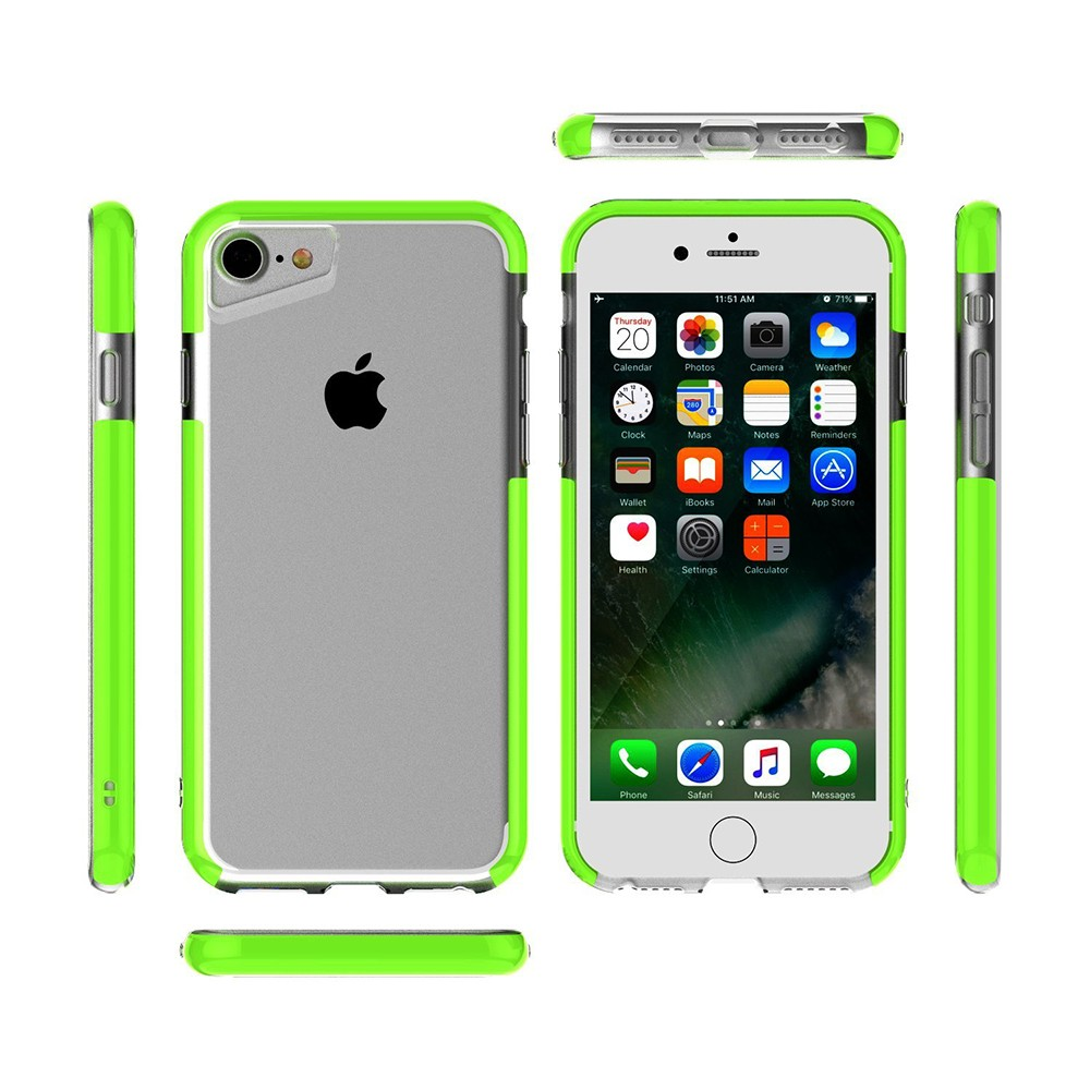 Shockproof IPhone 7 Clear Case, Soft TPU Cover Case with Lanyard Hole for iPhone 6 /6S & iPhone 7 4.7 Inch - Grass Green 9