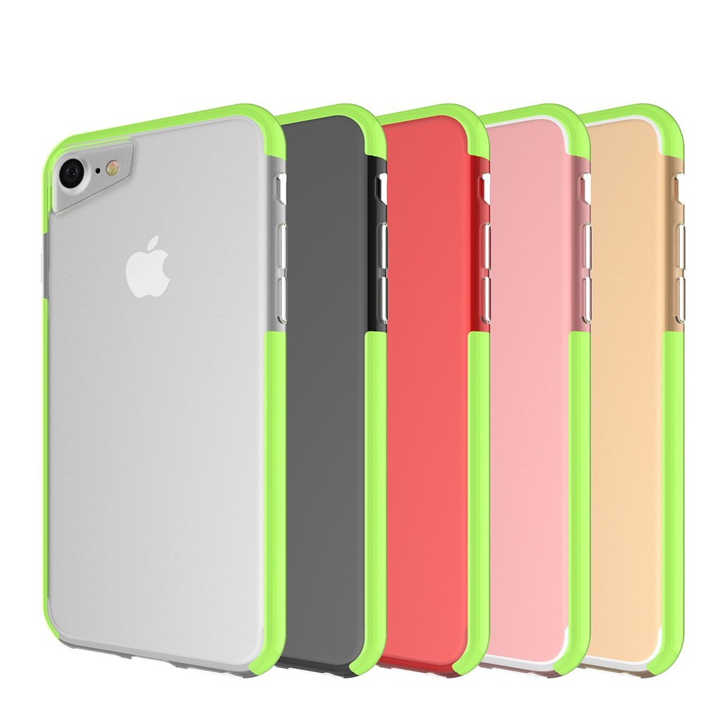 Shockproof IPhone 7 Clear Case, Soft TPU Cover Case with Lanyard Hole for iPhone 6 /6S & iPhone 7 4.7 Inch - Grass Green 10