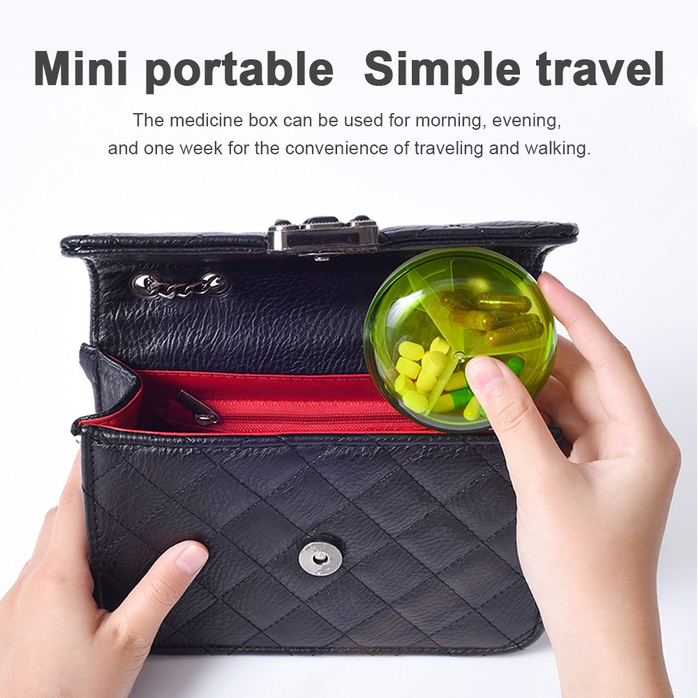 Daily 3 Times Travel Pill Box, Mini Portable 3 Compartments Medicine Pill Organizer 7