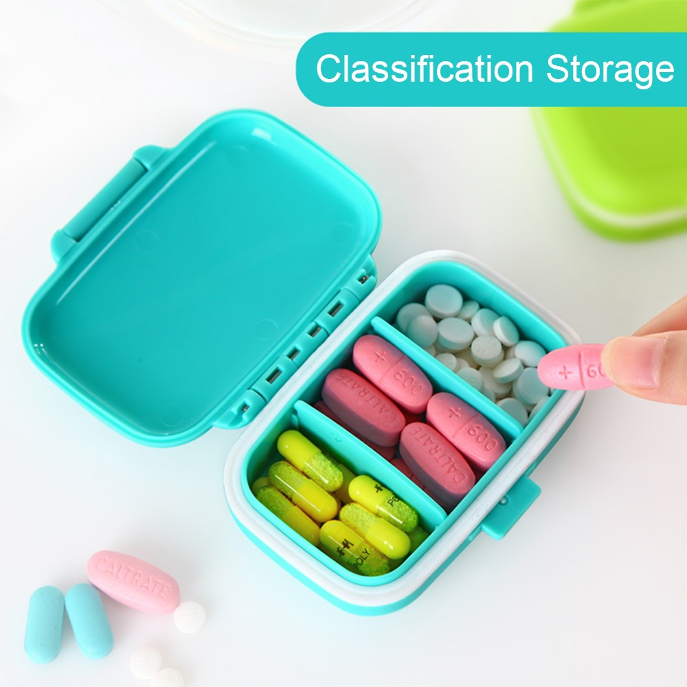 Waterproof Pill Case With 3 Removable Compartments, Daily Medication Carry Case For Pocket or Purse 6