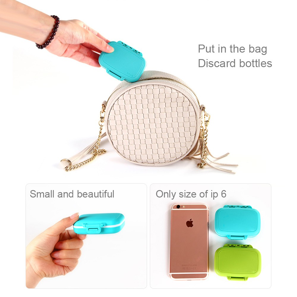 Waterproof Pill Case With 3 Removable Compartments, Daily Medication Carry Case For Pocket or Purse 9