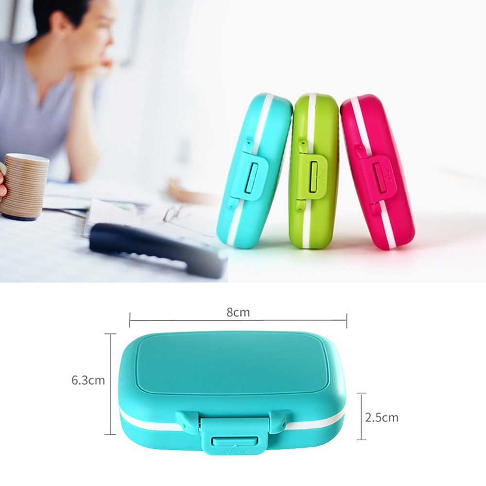 Waterproof Pill Case With 3 Removable Compartments, Daily Medication Carry Case For Pocket or Purse 8