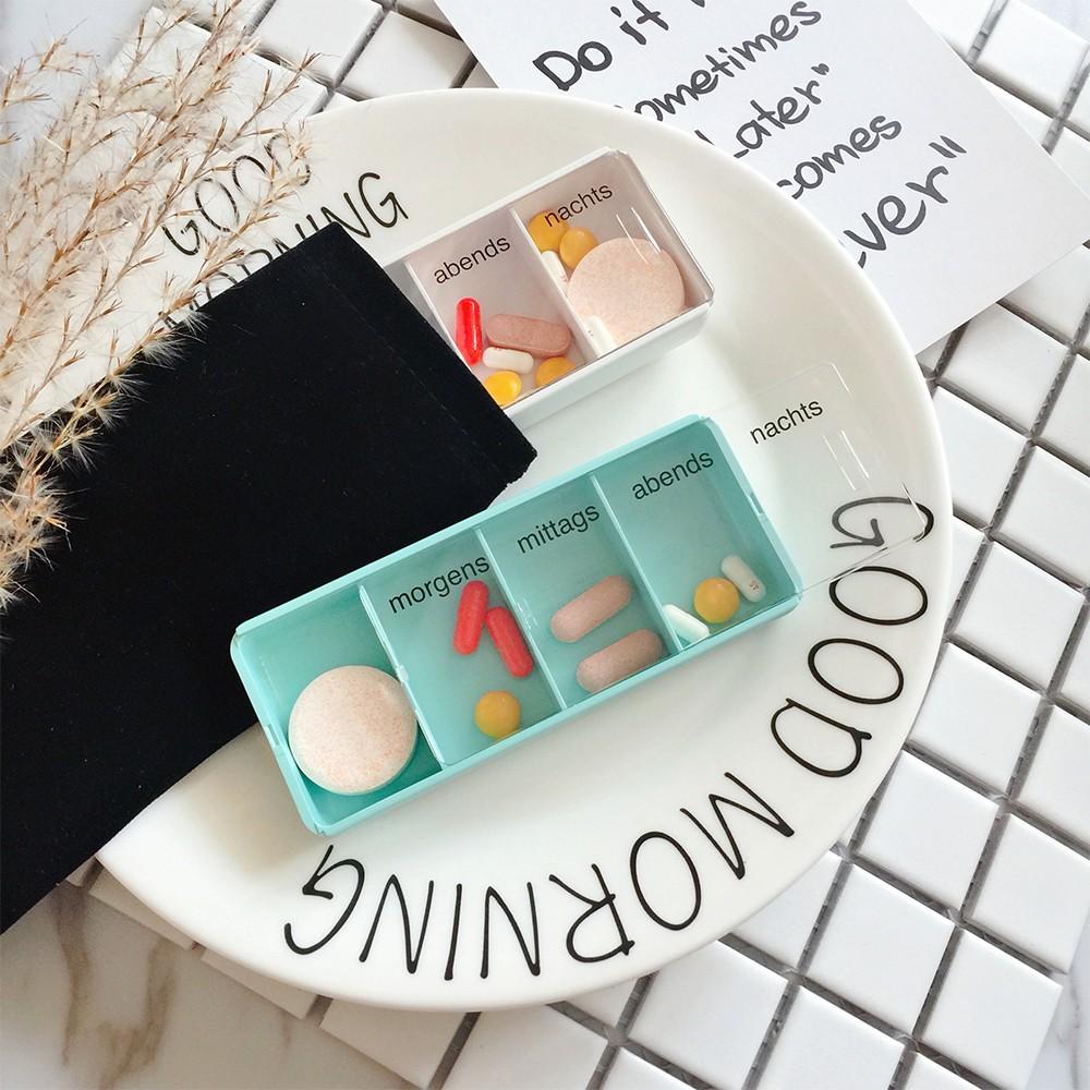 Mini Portable 4 Slots Travel Pill Box
