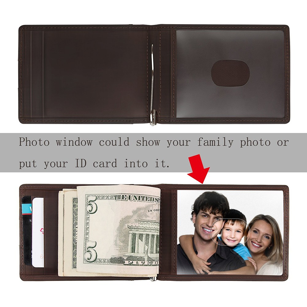 Slim Genuine Leather Wallet For Men, RFID Blocking Credit Card Holder with Automatic Pop-up Card Case 11