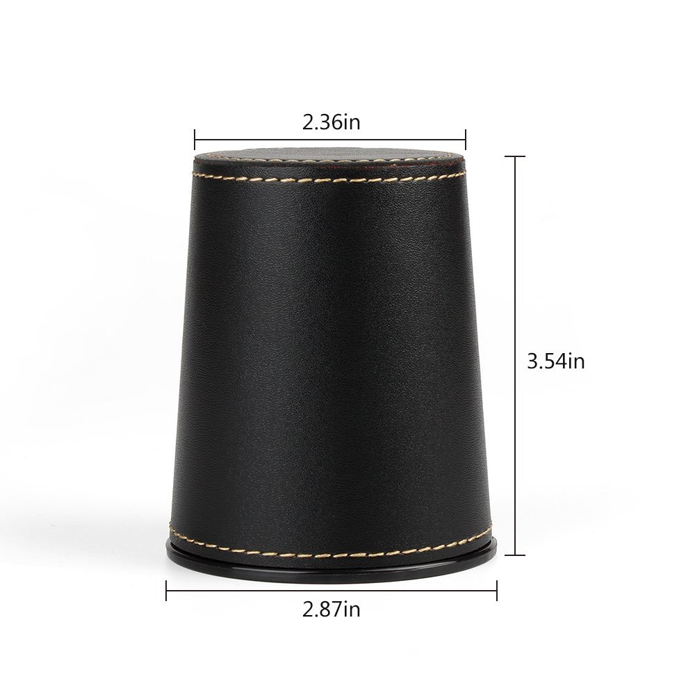 Professional PU Leather Dice Cup