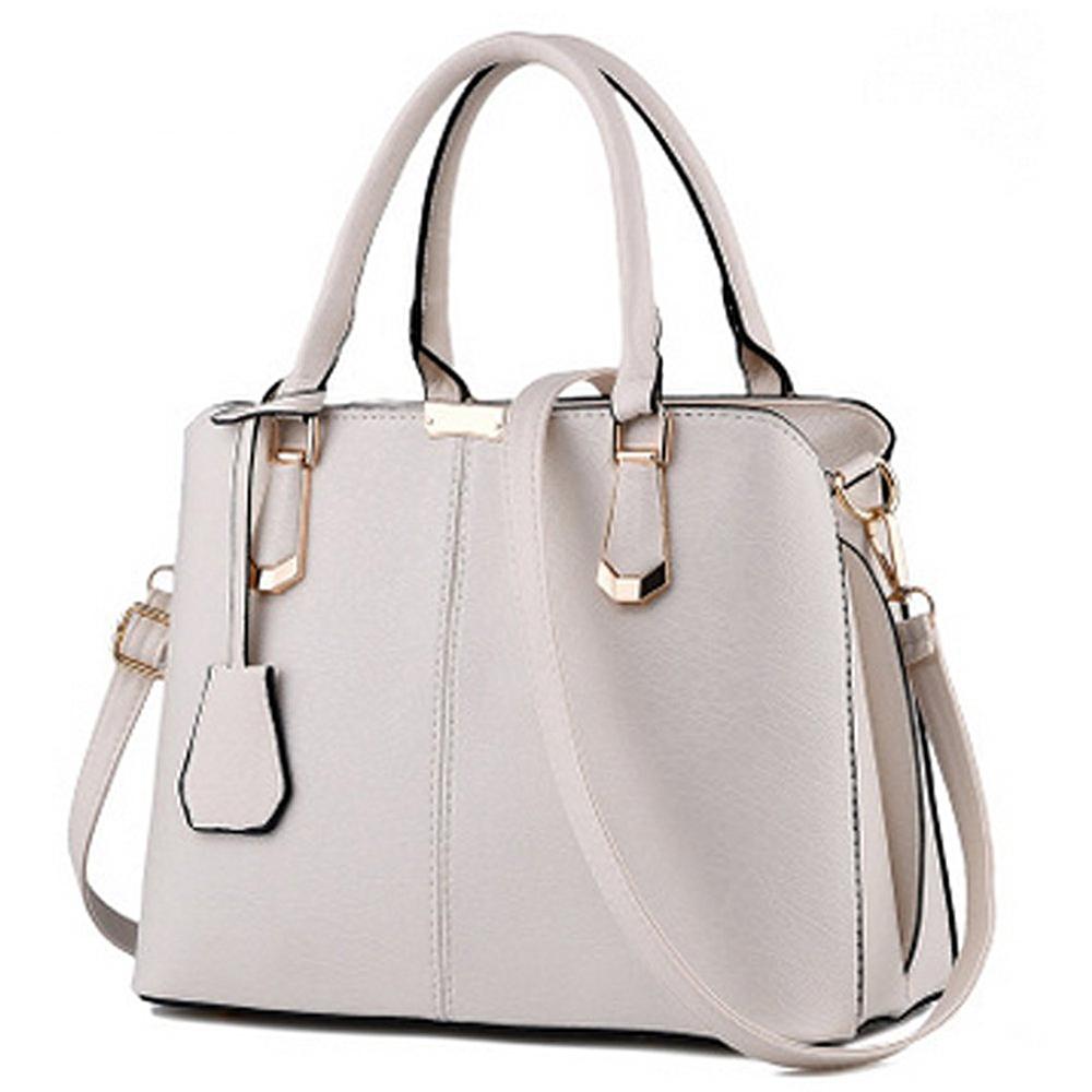 Women's Fashion PU Leather Top Handle Handbag