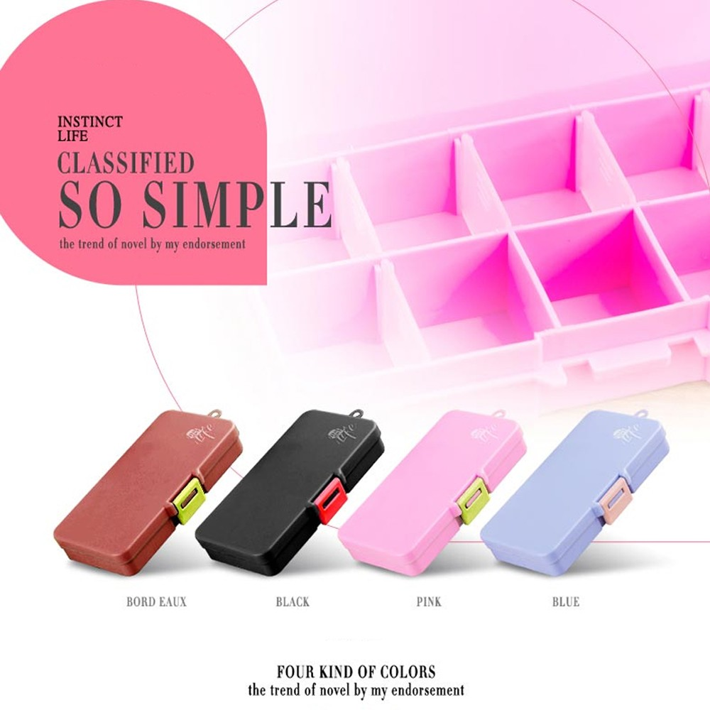 5-Day Weekly Pill Organizer, 15 Slot Large Portable Pill Case For Weekly or Travel Use 5