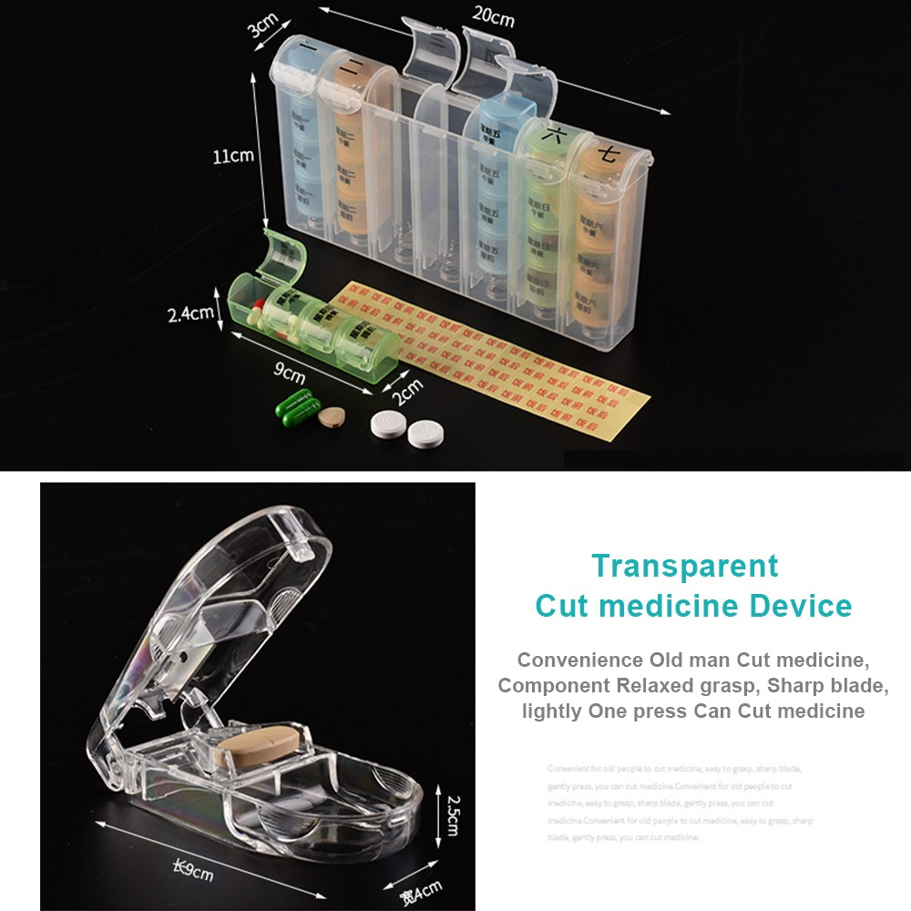 Detachable 7-Day Pill Organizer