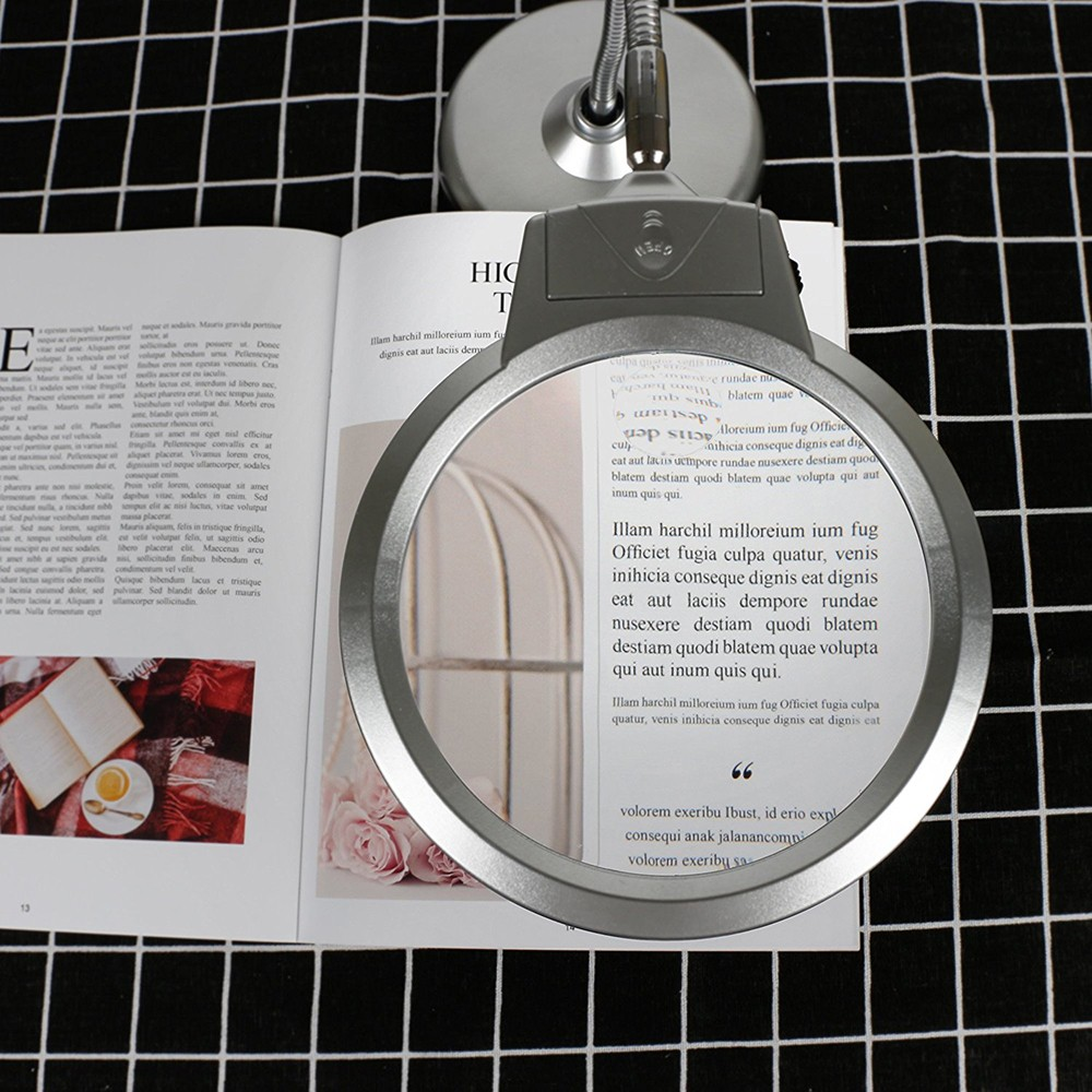 Desktop Magnifying Glass with 2X & 5X Lens, Best Hands Free Magnifying Glass for Reading, Hobby, Crafts, Workbench 7