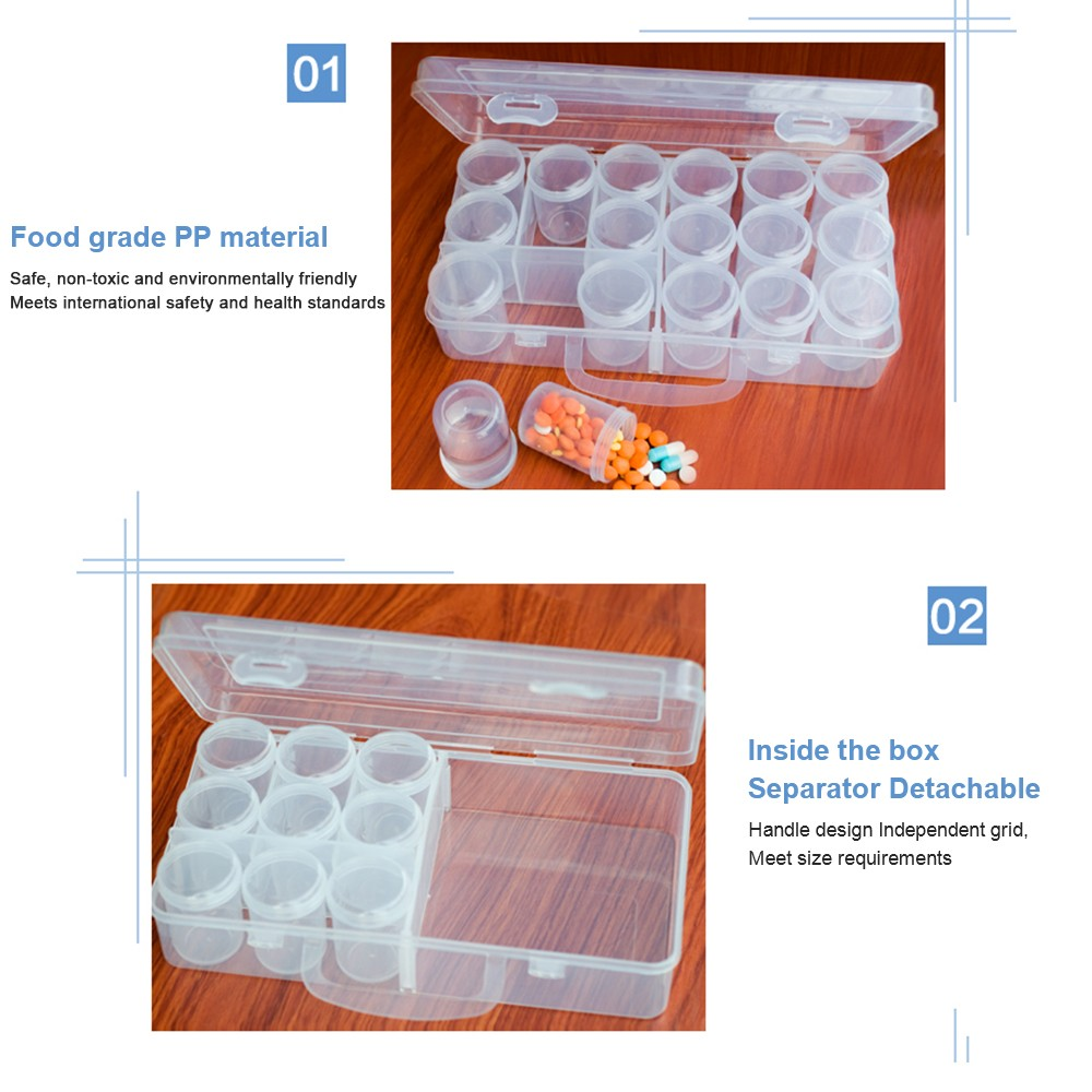 Portable Liquid Medicine Sample Containers