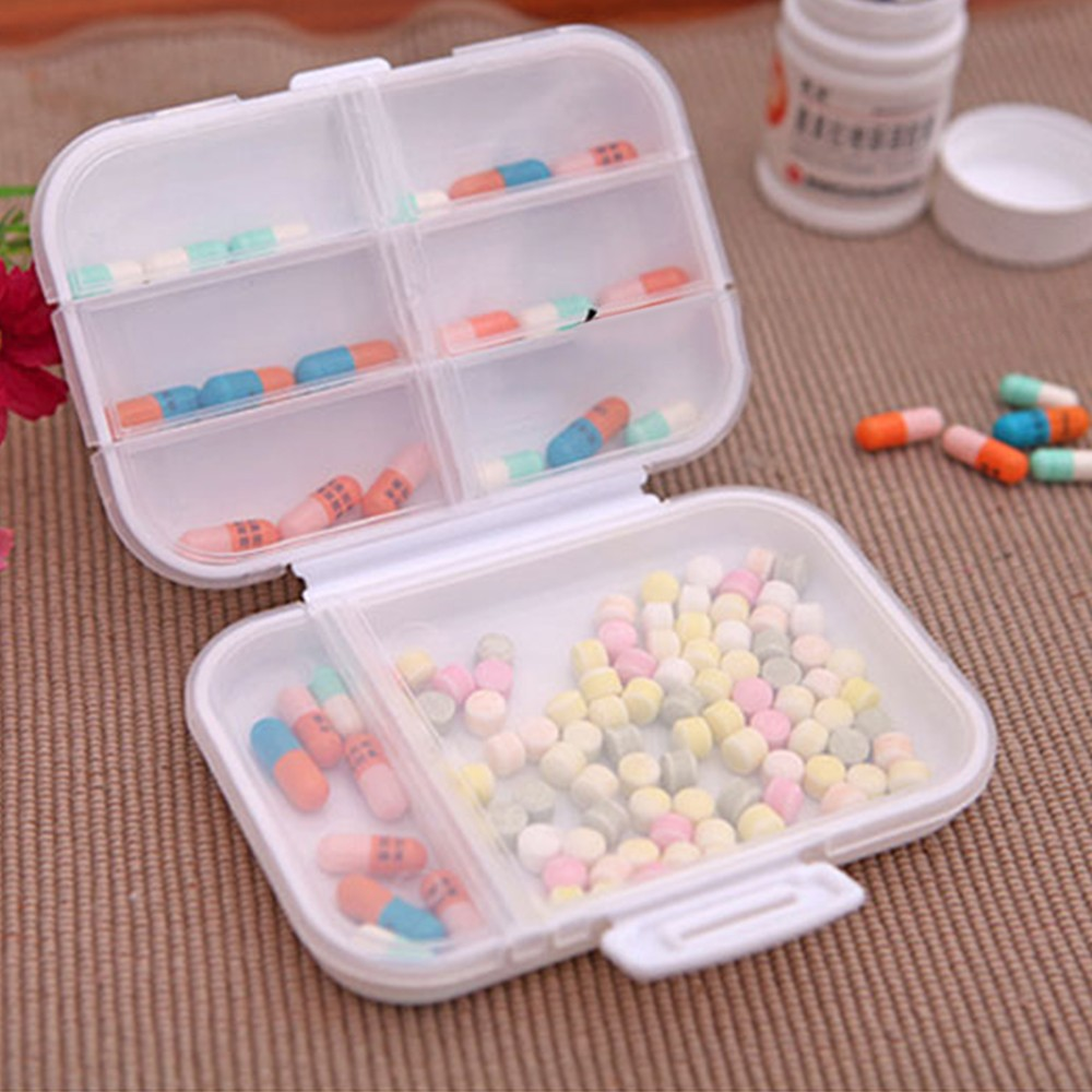 Weekly 8-Slot Pills/Vitamins Box, Portable Travel Pill Case for Purse or Pocket 7