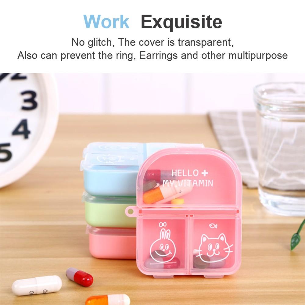 Cute Travel Pill Box for Women, Mini Portable 3 Slots Pill Organizer for Pocket Or Purse 5