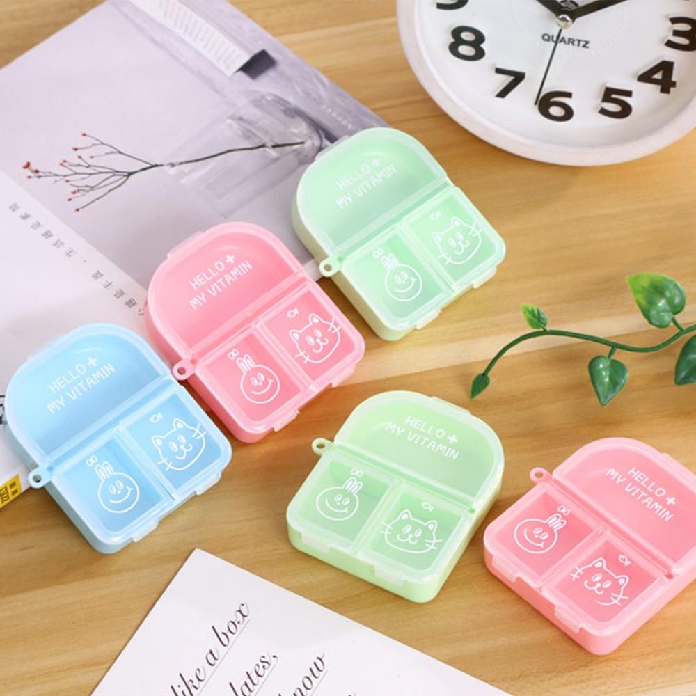 Cute Travel Pill Box for Women, Mini Portable 3 Slots Pill Organizer for Pocket Or Purse 7