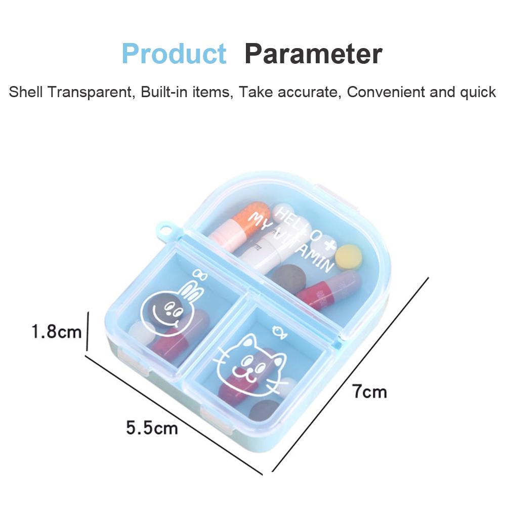 Cute Travel Pill Box for Women, Mini Portable 3 Slots Pill Organizer for Pocket Or Purse 8