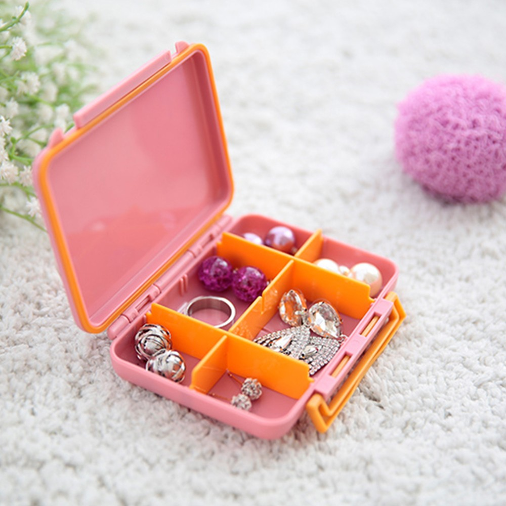 Waterproof Sealing Pill Case with Adjustable Compartments for Travel and Daily Use.Buy Waterproof Sealing Pill Case with Adjustable Compartments on Tinkleo.com