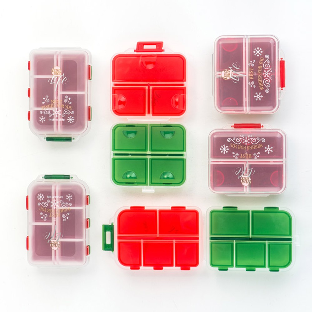 Double Layer Christmas style Pill Box