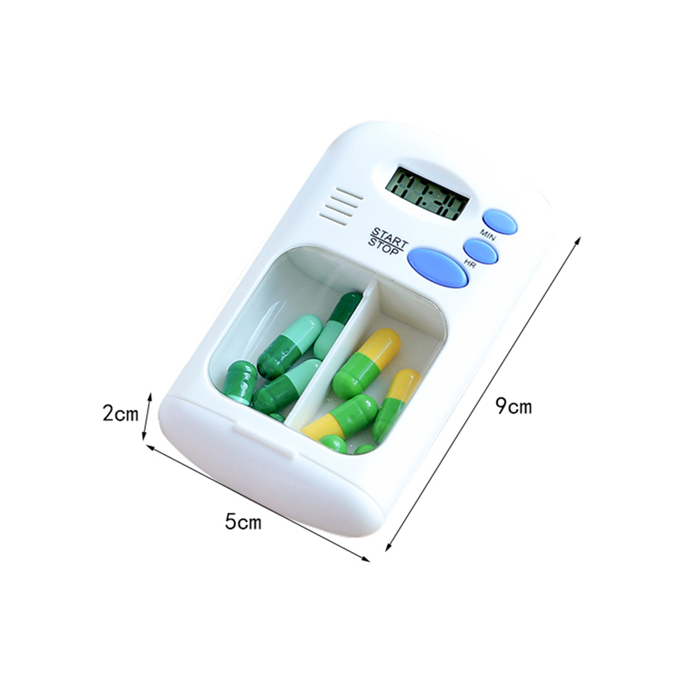 Portable Daily Pill Case with Alarm Reminder, Elderly Pills Tablet Holder Organizer for Medicine Vitamins Supplements 8