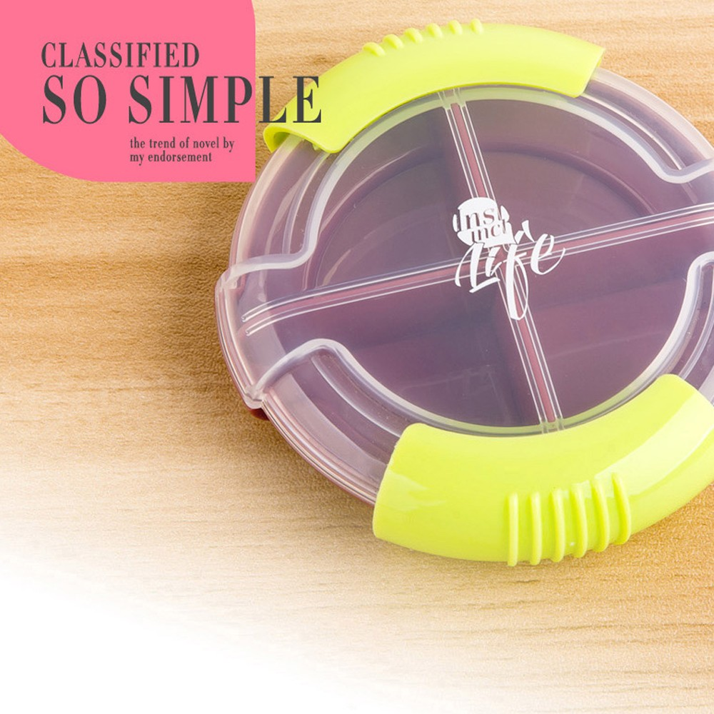 Round Portable Medicine Pill Case