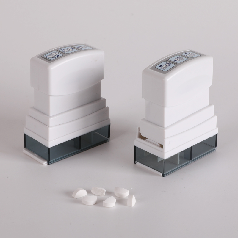 Convenient Press Medicine Tablet Cutter with Storage Compartment