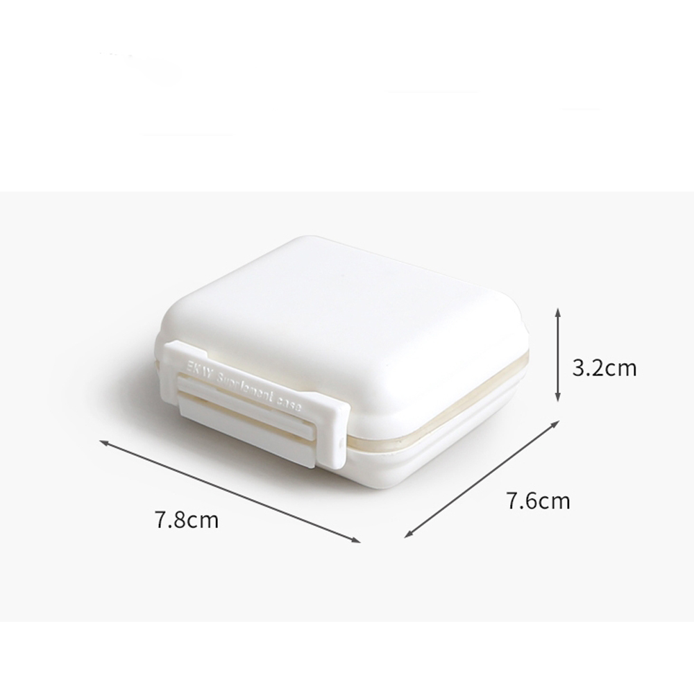 Moisture-proof Pill Box with Removable Compartments