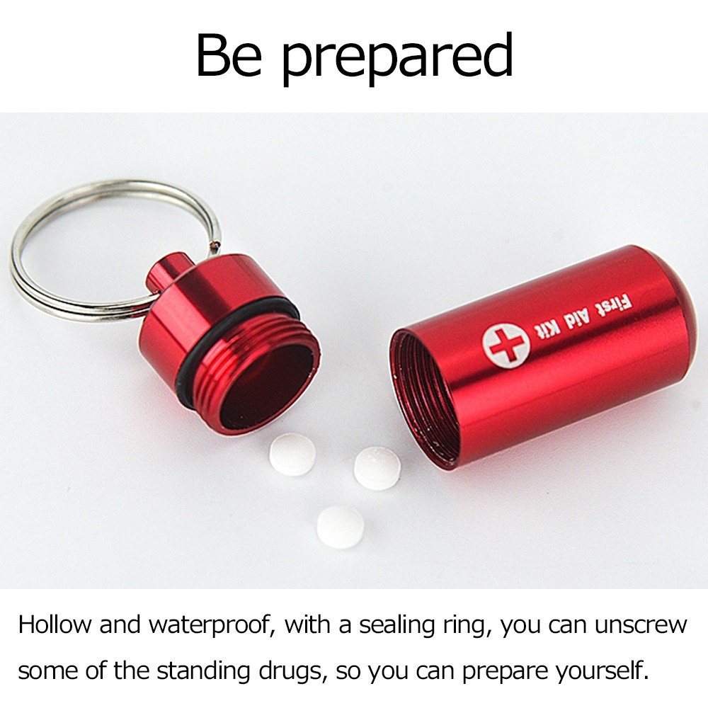 Waterproof Pill Bottle with Keychain