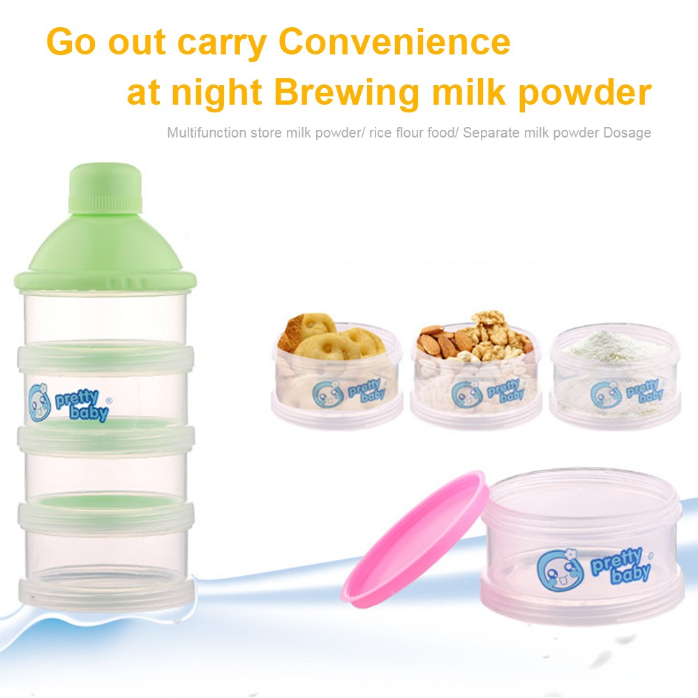 Baby Milk Powder Dispenser with Funnel, Stackable 3 Layers Snack Container for Daily Use 4