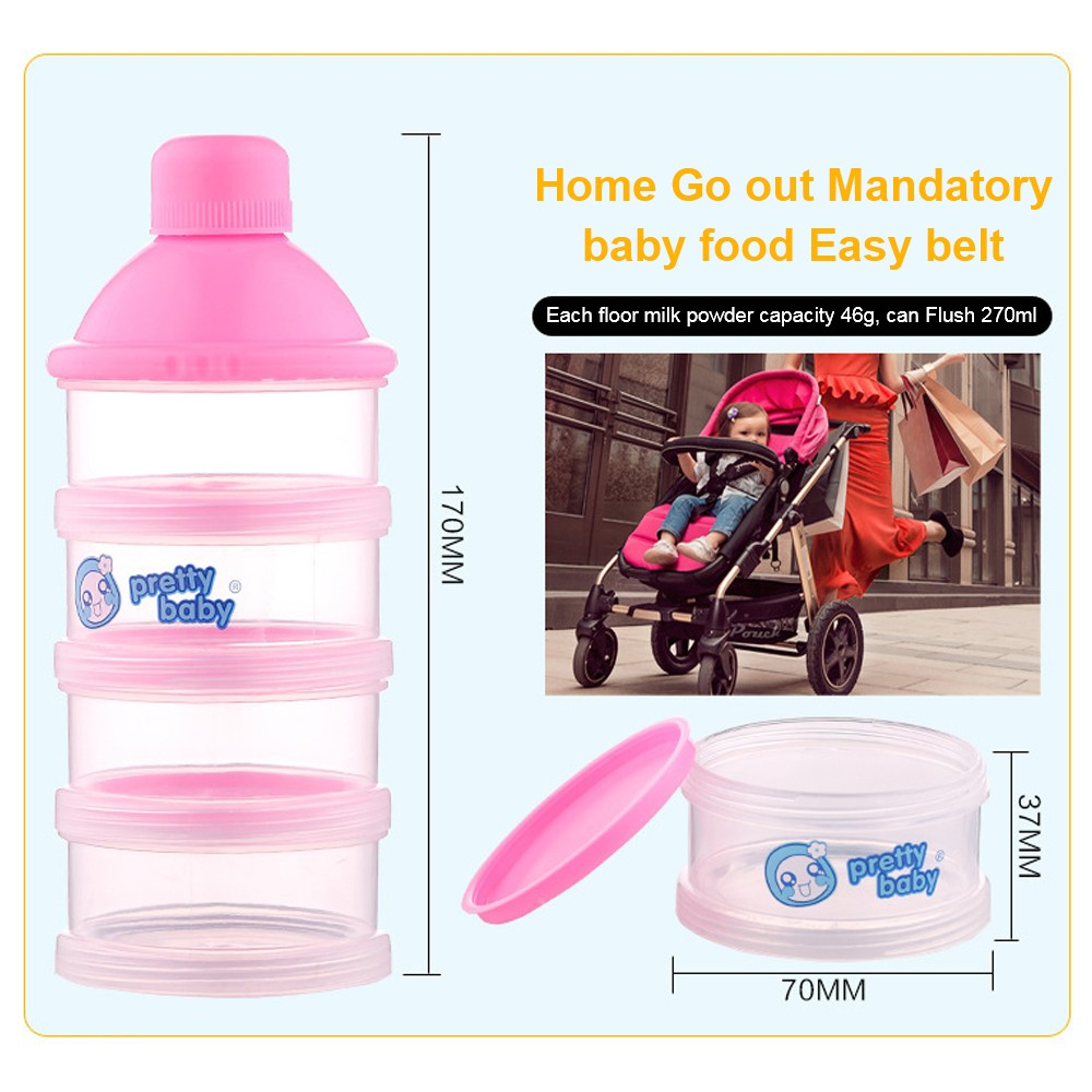 Baby Milk Powder Dispenser with Funnel, Stackable 3 Layers Snack Container for Daily Use 6