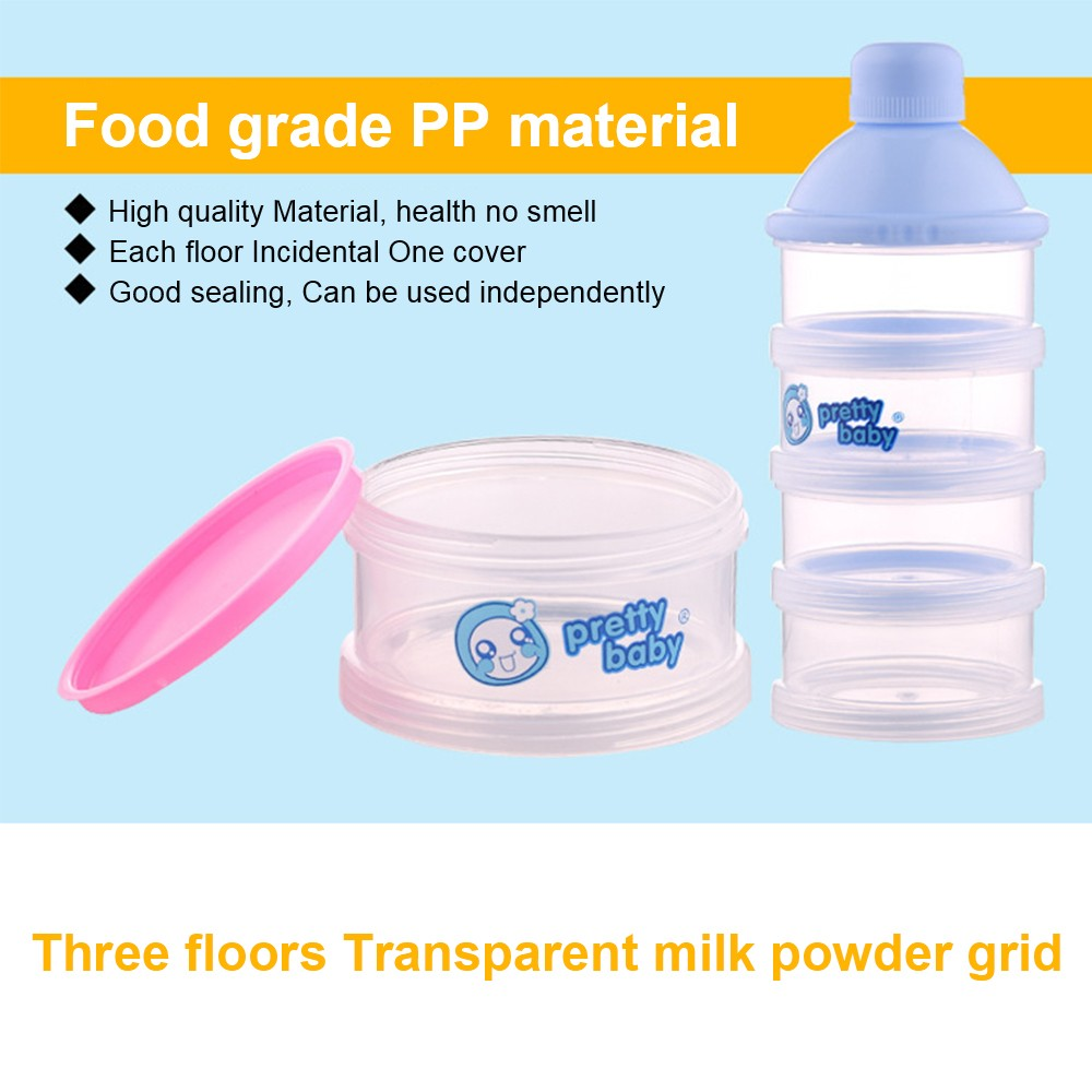 Baby Milk Powder Dispenser with Funnel, Stackable 3 Layers Snack Container for Daily Use 7