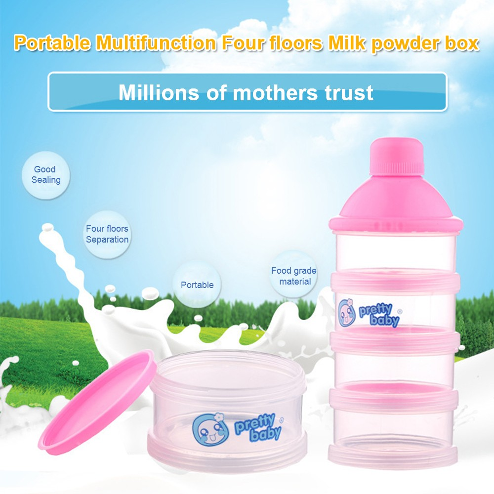 Baby Milk Powder Dispenser with Funnel, Stackable 3 Layers Snack Container for Daily Use 8