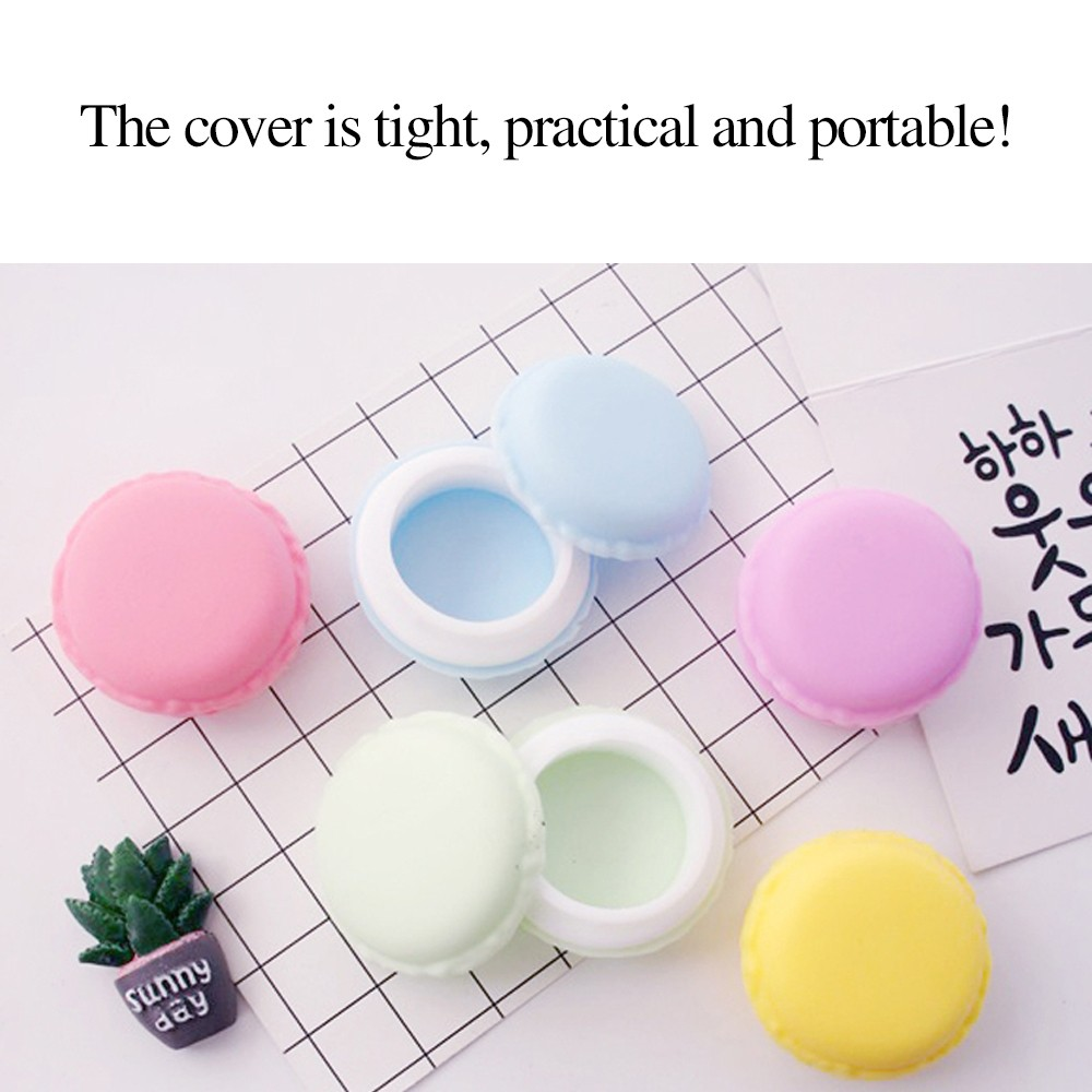 Cute Macaron Shape Mini Pill Case, Colorful Storage Container for Candy, Jewelry, Pills (5 pcs) 9