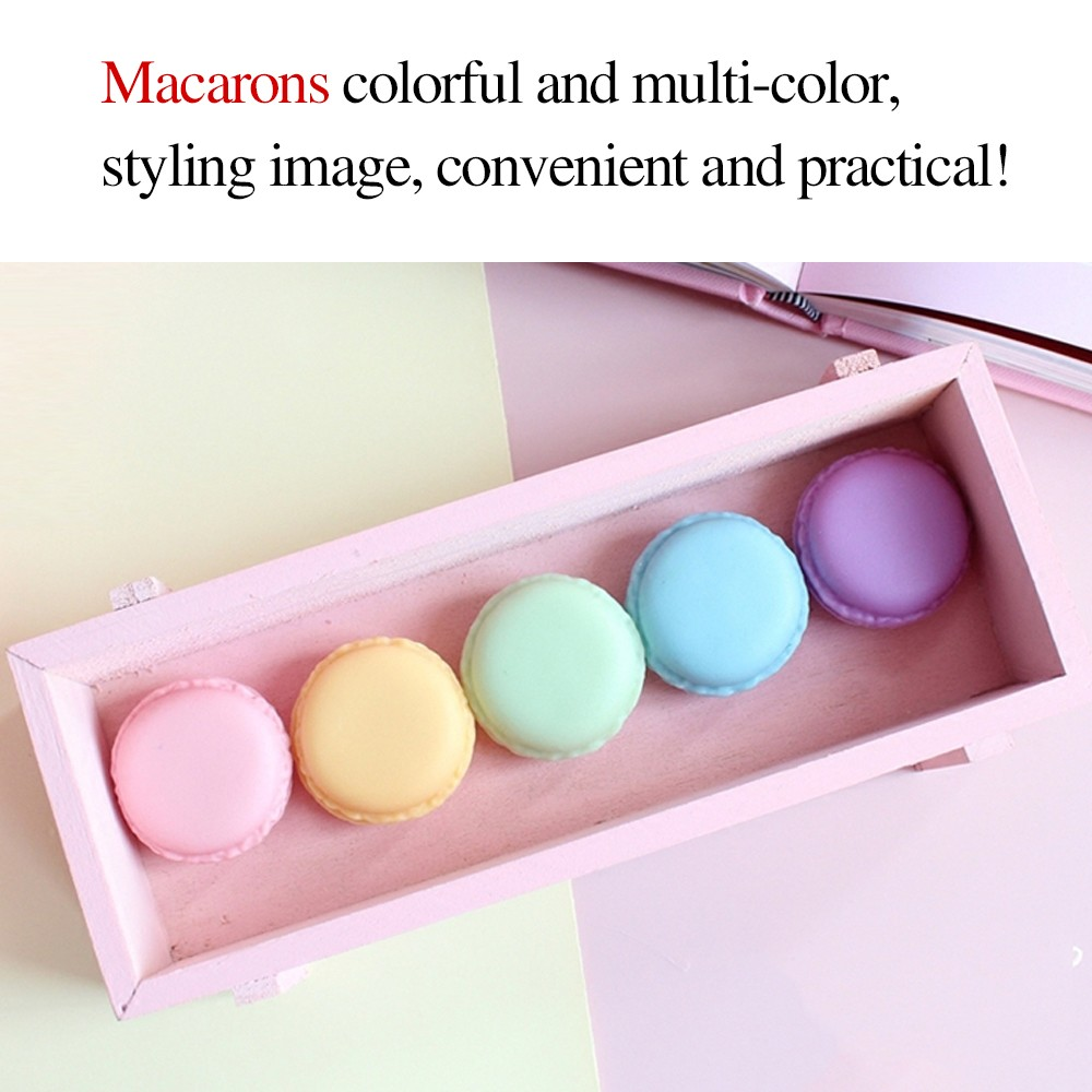 Cute Macaron Shape Mini Pill Case, Colorful Storage Container for Candy, Jewelry, Pills (5 pcs) 7