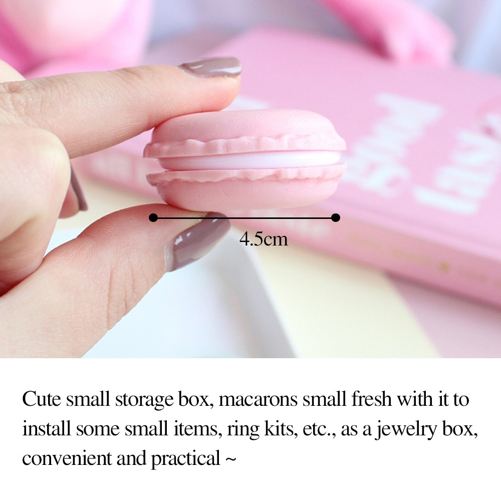 Cute Macaron Shape Mini Pill Case, Colorful Storage Container for Candy, Jewelry, Pills (5 pcs) 10